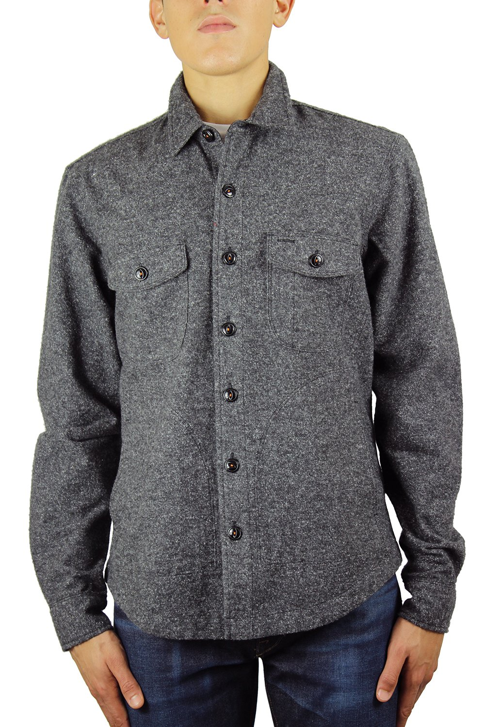 Kato Shirts Jacket 100% Cotton Speckle Midnight XL