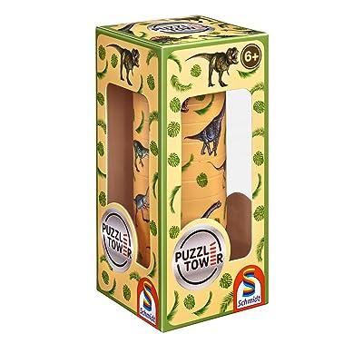 Schmidt Spiele Puzzle Tower für Kinder. Dinosaurier