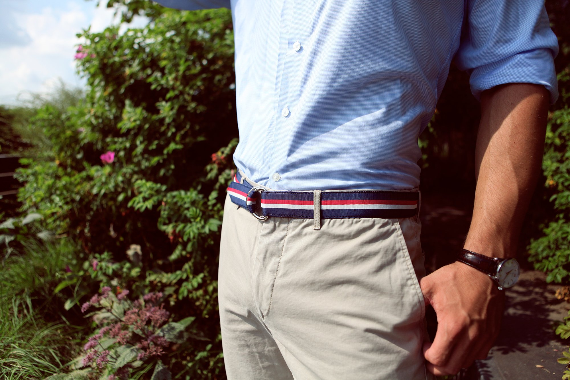 F.H. Wadsworth Grosgrain Ribbon D-Ring Belt (X-Small, Selvedge) by F.H. Wadsworth (Image #4)