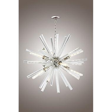 29 Inch Clear Crystal Axis Luxury Chandelier Lucite Sputnik Hanley 9 Light Ceiling Lamp