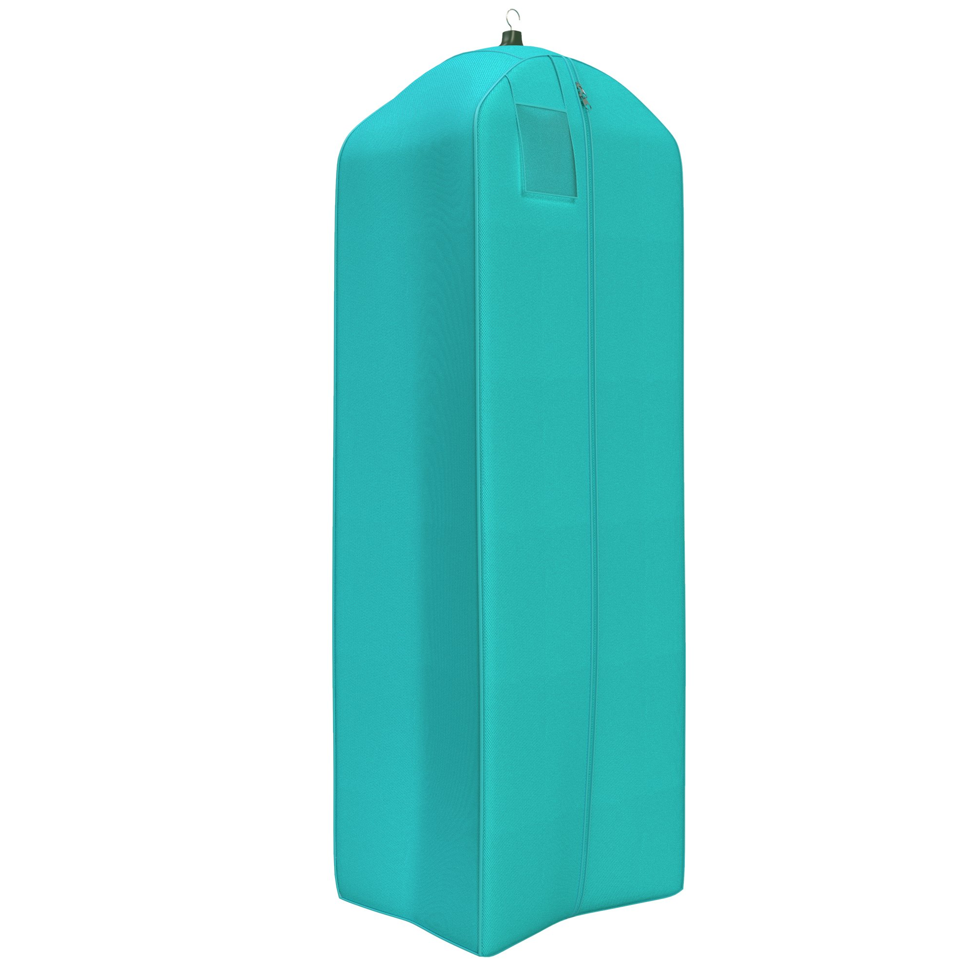 """Women's Dress and Gown Garment Bag - 72""""x24"""" - 20"""" Tapered Gusset- Tiffany Blue"""