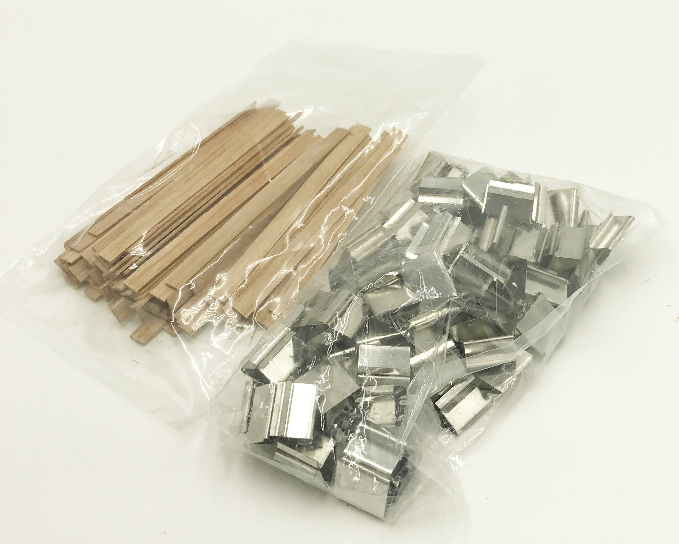Candlewic 100pk of Small Cherry Wood Wicks 1/4'' width 3. 5'' length (. 04 thickness)