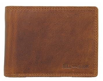 8083d1bd29ddd Hill Burry Herren Echt-Leder Geldbörse Portemonnaie Brieftasche Portmonee  Geldbeutel Kredit-Kartenetui Wallet Vintage