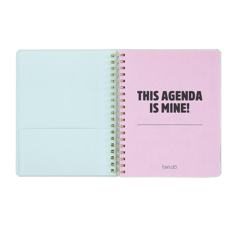 Ban. do diseño 2016 - 2017 grande 17 meses Agenda, Lady de ...
