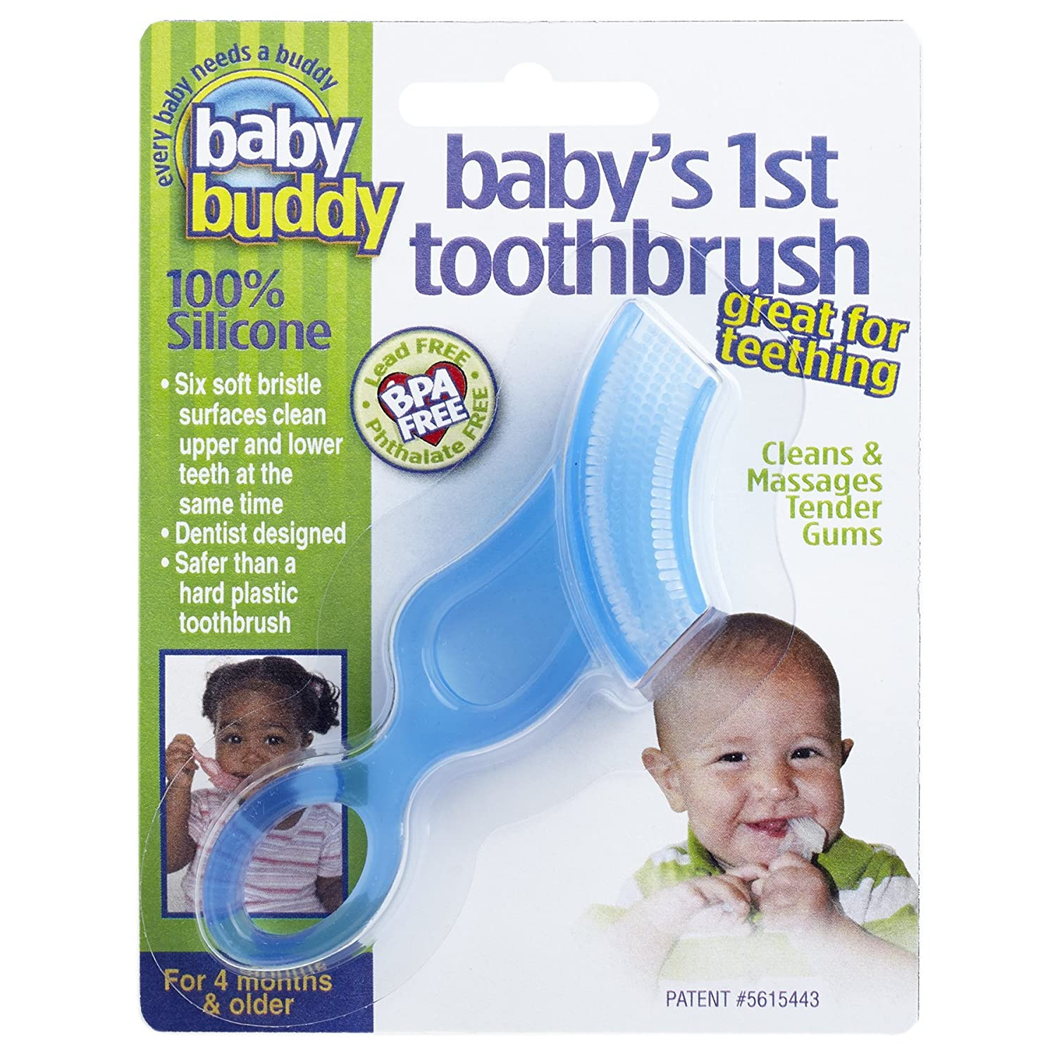 Baby Buddy Baby\'s First Toothbrush, Clear 00502C
