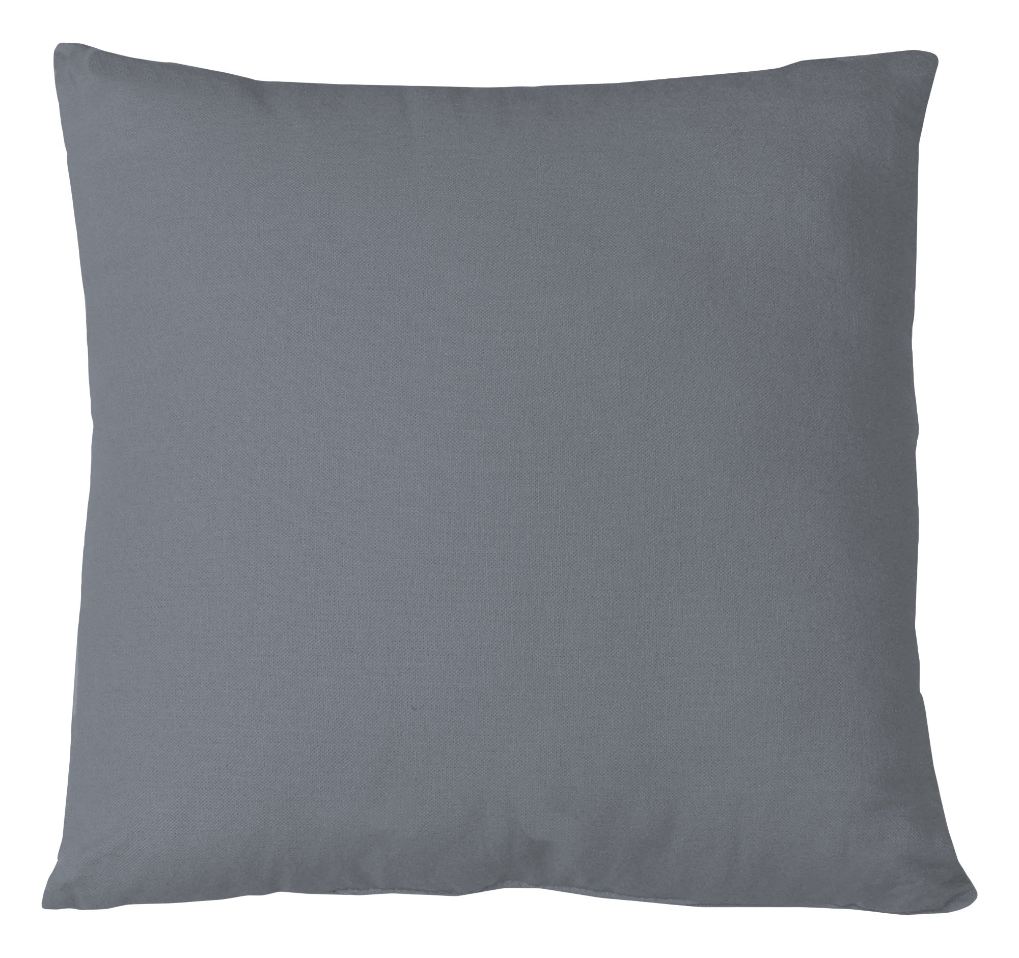 Elrene Home Fashions 026865879988 Decorative Linen Solid Couch/Sofa/Bed Cushion Pillow, 18'' x 18'', Gray