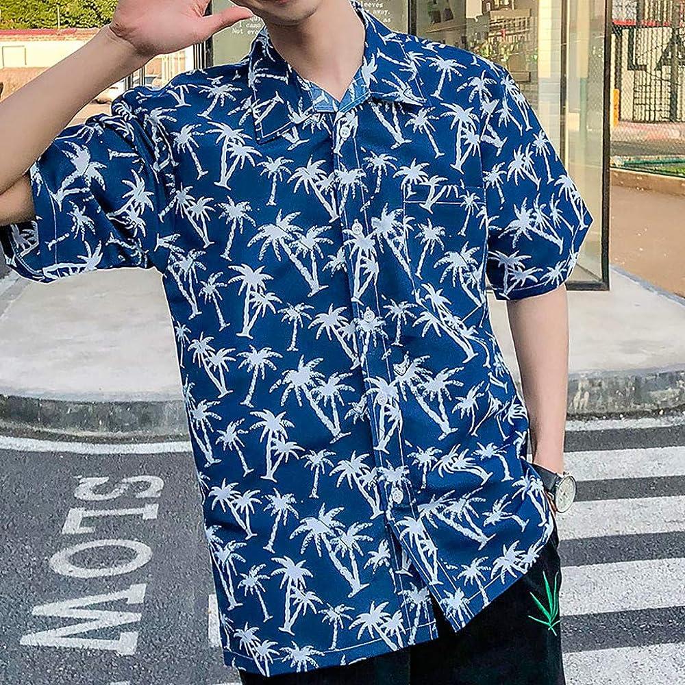 ACEBABY Camisa Hawaiana Hombre Sujeta Camisa Encanto Moda Playa Impresa Personalizada Estilo Camisa Casual: Amazon.es: Ropa y accesorios
