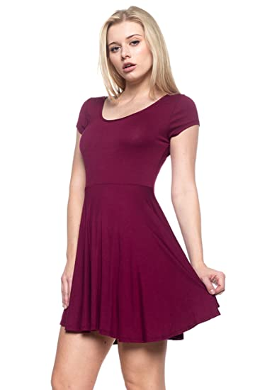 0f9629f1599e J2 Love Made in USA Short Sleeve Flare Dress (up to 5X) at Amazon ...
