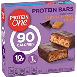 Protein One 90 Calorie Protein bar Salted Caramel Crisp, 5 Count