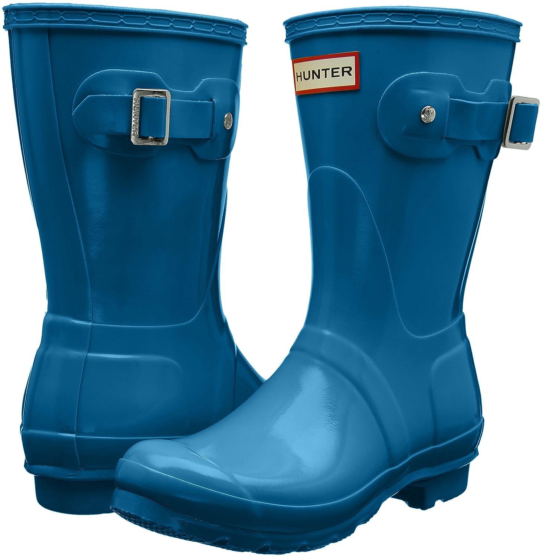 Hunter Women's Original Short 8 Gloss Rain Boots B01MZ69T8N 8 Short B(M) US|Ocean Blue 7becf4