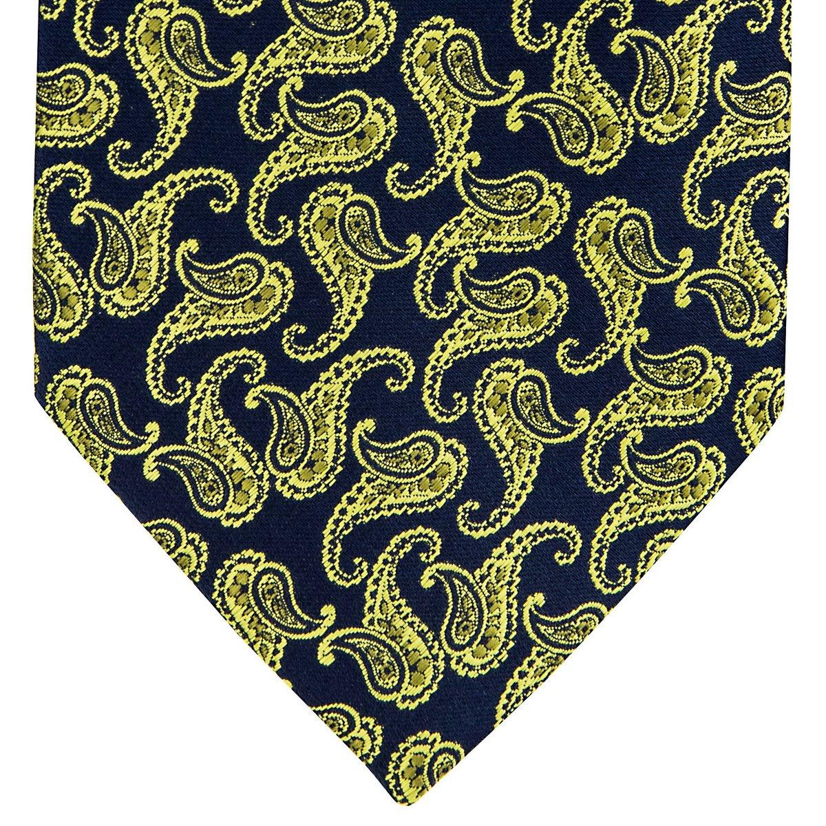 Classic Paisley Pattern Woven Mens Tie Necktie w//Pocket Square /& Cufflinks Gift Set