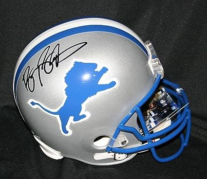 san francisco 9bf0f 1cd8b Amazon.com: Signed Barry Sanders Helmet - Replica - PSA/DNA ...