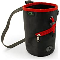 CampTeck Drawstring Chalk Bag for Rock Climbing, Bouldering, Gymnastics, Weightlifting & much more Black