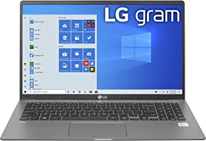"LG Gram Laptop - 15.6"" IPS Touchscreen, Intel 10th Gen Core i7-1065G7 CPU, 8GB RAM, 256GB M.2 MVMe SSD, 17 Hours Battery, Thunderbolt 3 - 15Z90N (2020)"