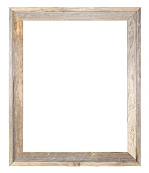 18x24 2 wide signature reclaimed rustic barnwood open frame no glass