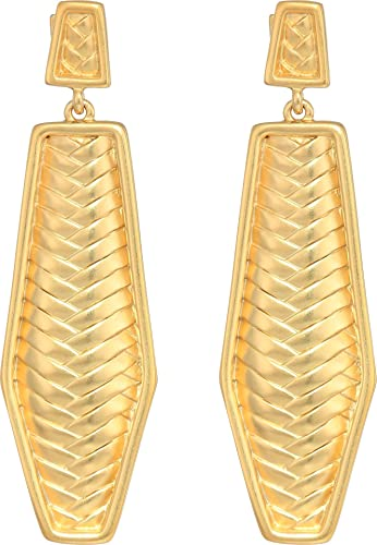 b7725fbc4c0 Amazon.com  Vince Camuto Women s Post Drop Linear Earrings Matte Gold One  Size  Jewelry