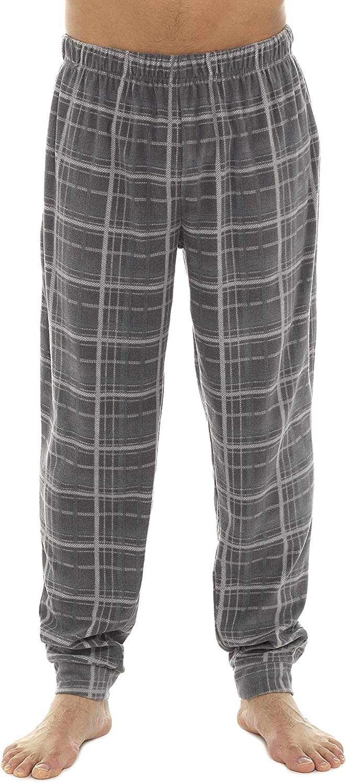Tom Franks Mens Checked Fleece Cuffed Lounge Pyjama Trousers