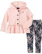 Calvin Klein Conjunto de 2 Piezas de Pantalones de Chamarra para niñas