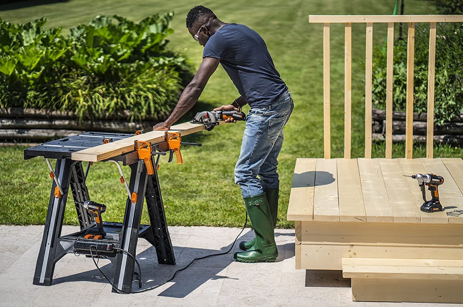 WORX Pegasus Work Table and Sawhorse Review 3