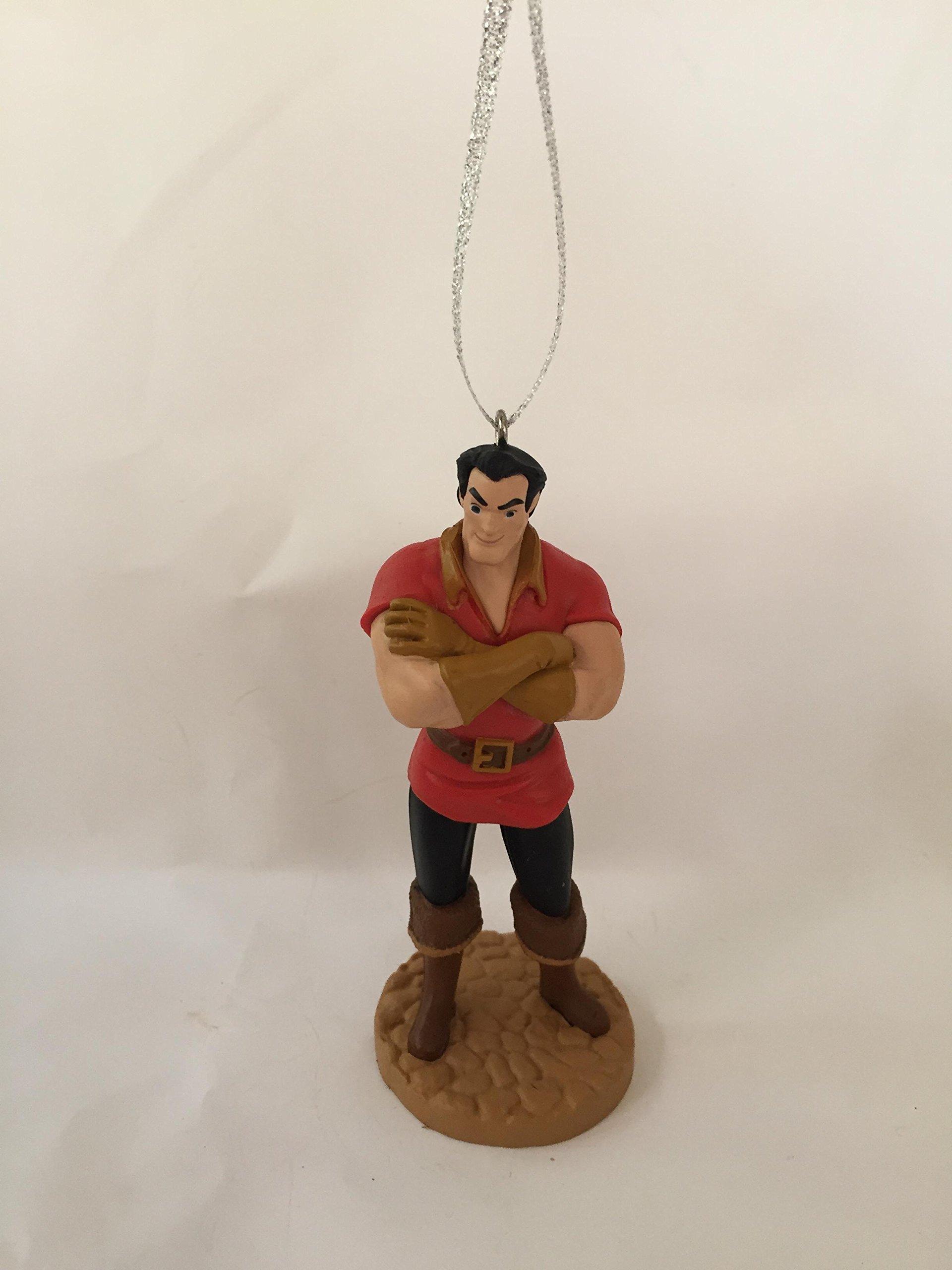 Disney Beauty and the Beast 4'' Gaston PVC Figure Holiday Christmas Tree Ornament Figurine Doll Toy