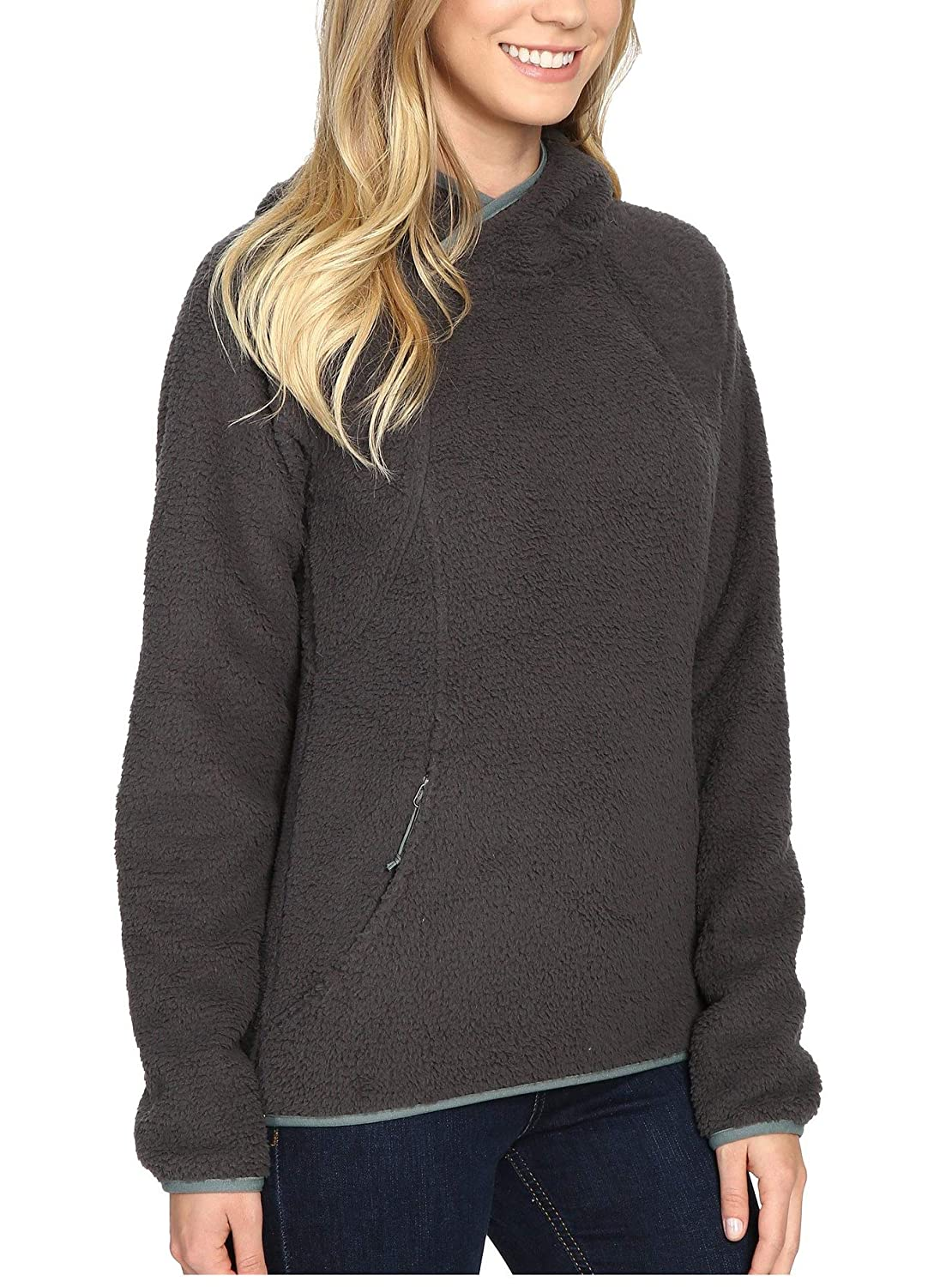 Aox Womens Pullover Hoodie Sweatshirt Long Sleeve Thicken Fleece Sherpa Outerwear with Pockets