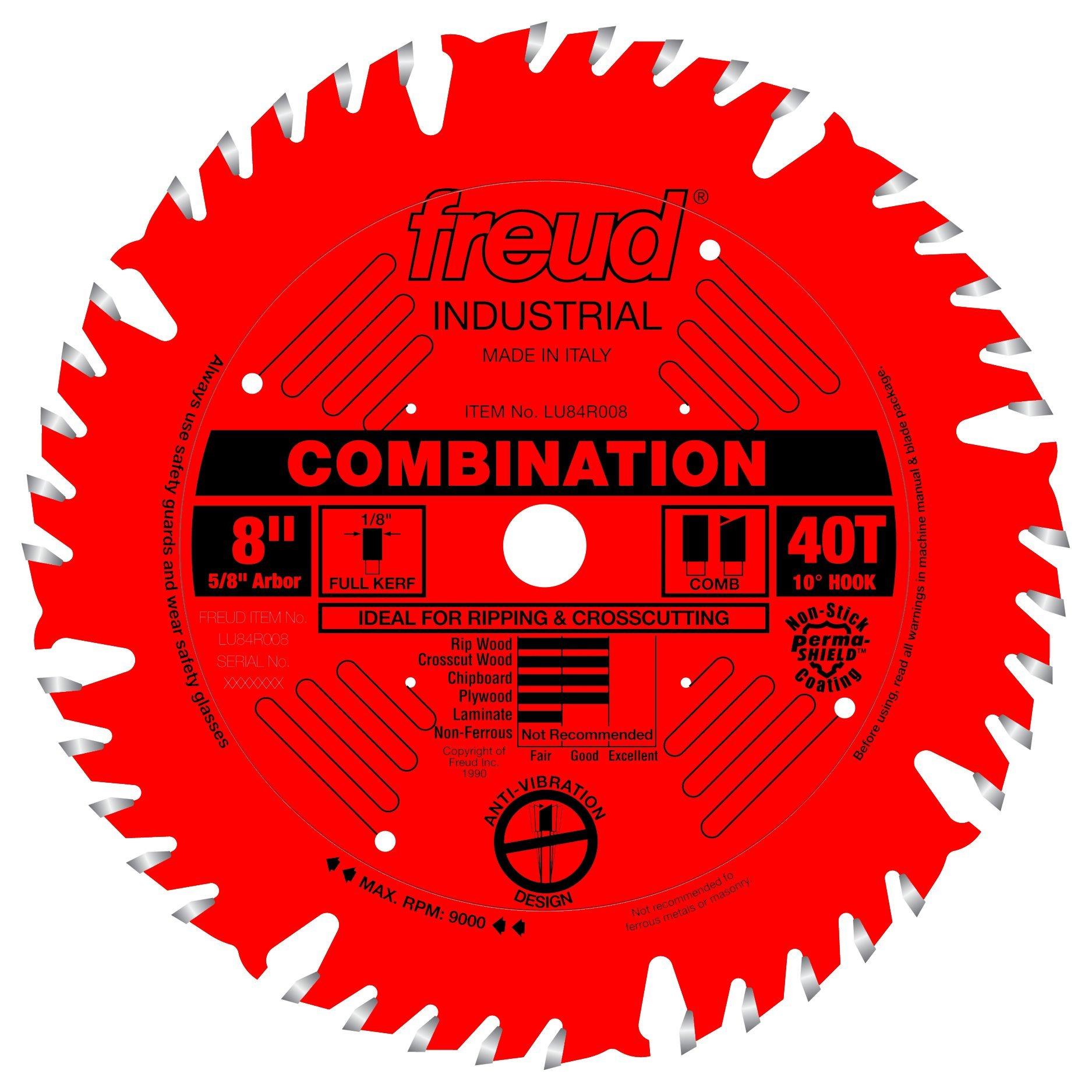 Disco Sierra FREUD Combinación 8 x 40T (LU84R008)