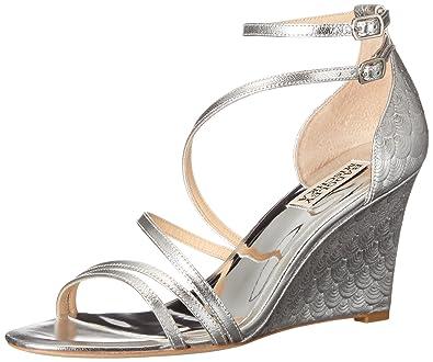 9637ea74a Amazon.com  Badgley Mischka Women s Carnation II Wedge Sandal  Shoes