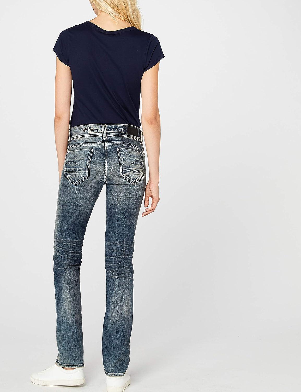 G-STAR RAW Womens Midge Saddle Mid Waist Straight Jeans