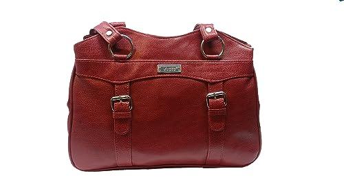 fe1055a5c3a Vesta Stylish Casual Form Leather Handbag for Women   Girls (Wine ...