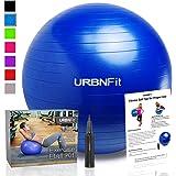 Ejercicio bola (varios tamaños) para fitness, estabilidad, equilibrio y Yoga–Guía de Entrenamiento y bomba rápida incluido–Anit Burst diseño de calidad profesional