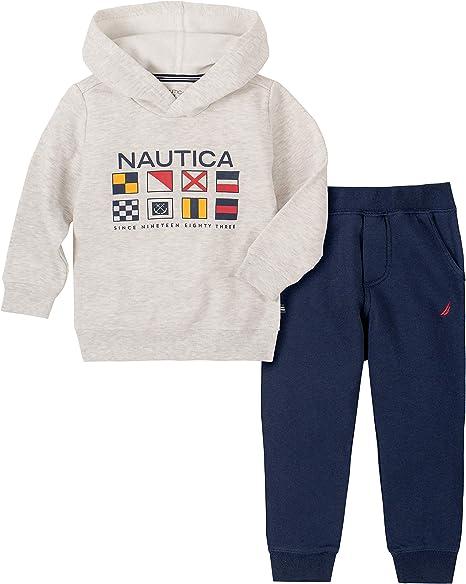 Nautica Sets Khq Juego De 2 Pantalones Con Capucha Para Bebe Heather Gray 3 6 Meses Amazon Com Mx Ropa Zapatos Y Accesorios