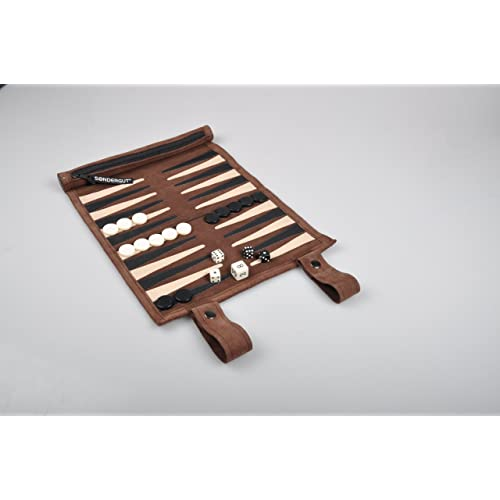 Red//Black Traditional Wood Draught /& Backgammon Pieces with Stackable Ridge 28.5 mm