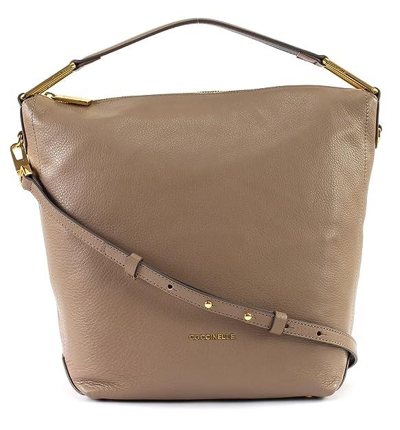 46c52547edf73 Coccinelle Liya Small Hobo Bag Taupe Noir  Amazon.de  Schuhe   Handtaschen