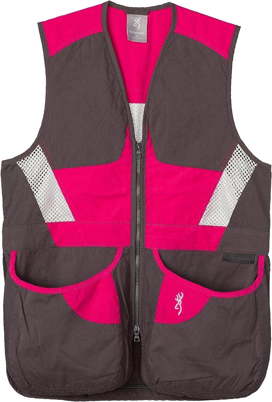 Browning Summit Shooting Vest Smoke/Hot Pink