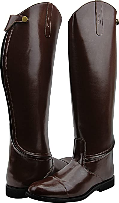 Amazon.com: Hispar Mens Man Stirling Dress Dressage Boots with Back Zipper  Riding English Equestrian Brown: Sports & Outdoors