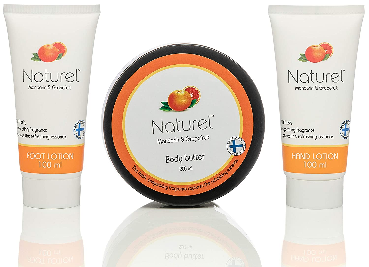 Grapefruit Lotion Body Butter set - Beauty Boxes Gift for Women - Hand Cream and Foot Lotion