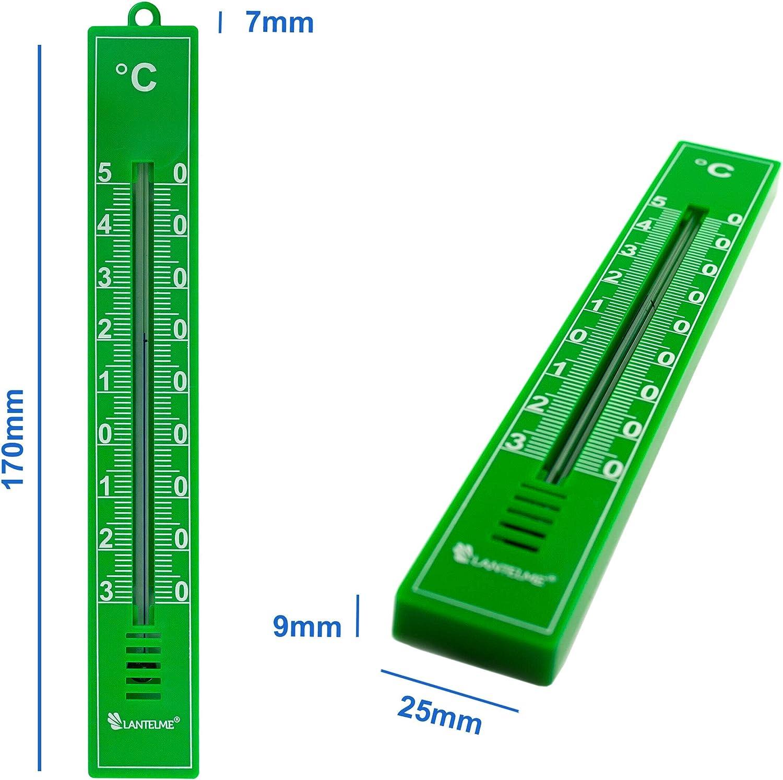 Lantelme Gartenthermometer 5 St/ück blau analog Kunststoff Thermometer Set Innen Au/ßen Garten 3929