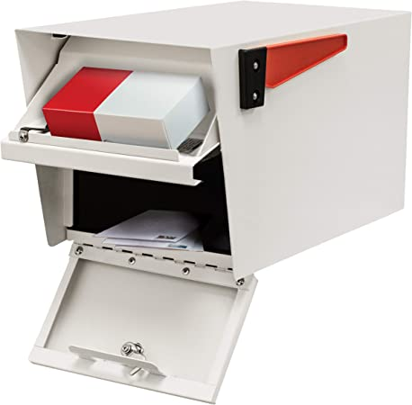 Renewed Mail Boss 7107 Curbside Locking Security Mailbox White