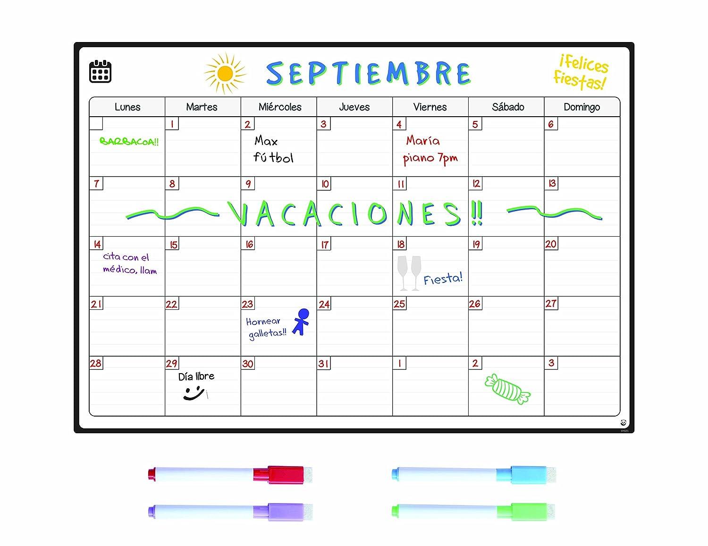 SmartPanda Calendario Magnético para Nevera Una Manera Perfecta de Organizarse Ideal Planificador
