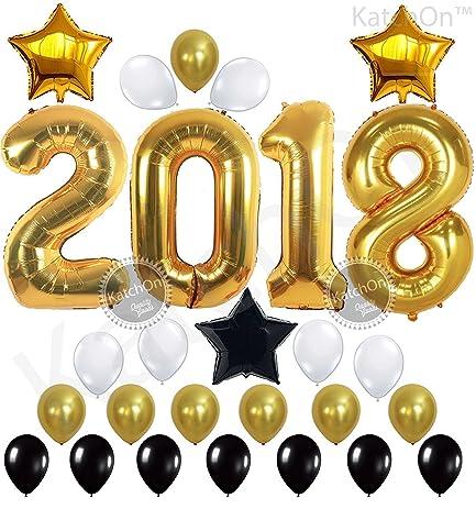 Amazon 2018 balloons gold decorations banner gold black 2018 balloons gold decorations banner gold black white latex balloon large size junglespirit Gallery
