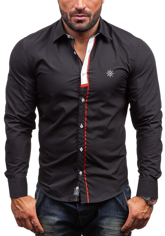 BOLF Herrenhemd Freizeithemd Langarm BY MIRZAD 5782: Amazon.de: Bekleidung