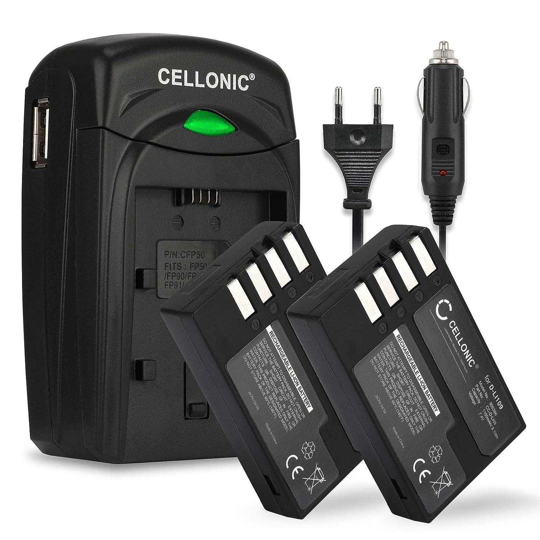 CELLONIC 2X Batería D-Li109 + Cargador D-BC109 K-BC109 Compatible con Pentax KP K-50 K-30 K-S1 K-S2 Kr K-500 Fuente alimentación Cargador Coche ...