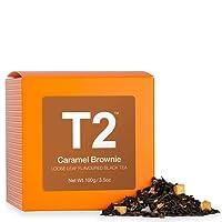 T2 Tea Caramel Brownie Loose Leaf Black Tea in Box, 100g (3.5 Ounce)