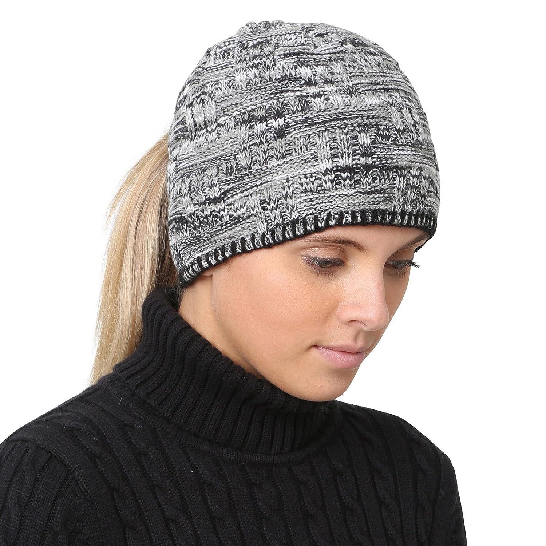 TrailHeads Women's Space Dye Knit Ponytail Beanie