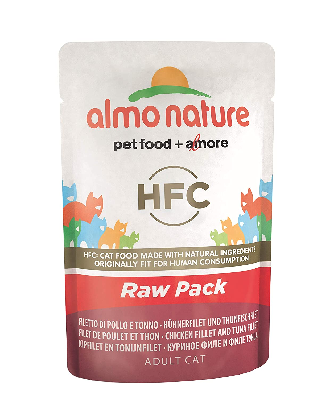 Almo nature Cat Food Classic Raw Pack Bolsa para Pollos y atún ...
