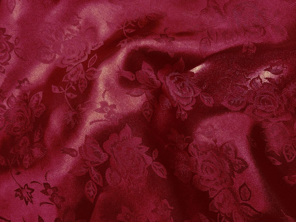1 X Brocade Jacquard Satin Burgundy 60 Inches Wide Fabric By the Yard (F.E.つ) by The Fabric Exchange   B00CFO8WZY