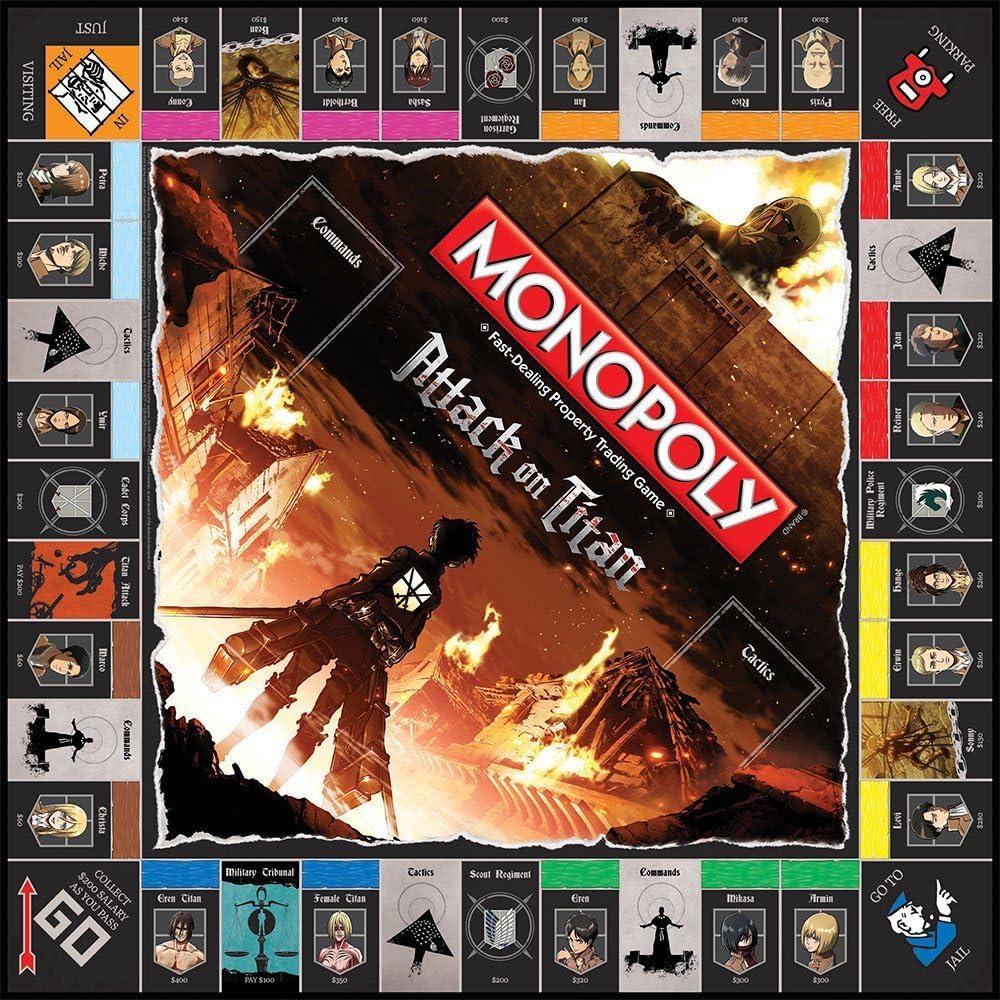 MONOPOLY: Attack on Titan Board Game by USAopoly: Amazon.es: Juguetes y juegos