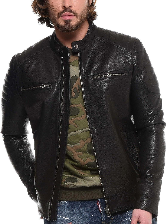 6ebb3553c Arturo - Blouson Cuir Brooklyn Taille Homme - 3XL, Couleur - Noir ...