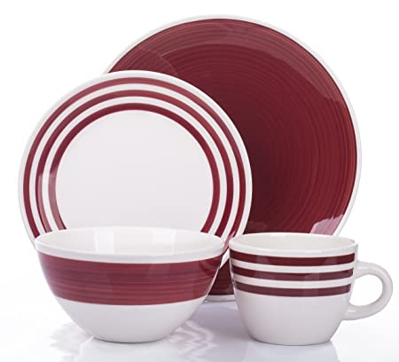 32 Piece Padstow Red Dinner Set  sc 1 st  Amazon UK & 32 Piece Padstow Red Dinner Set: Amazon.co.uk: Kitchen \u0026 Home