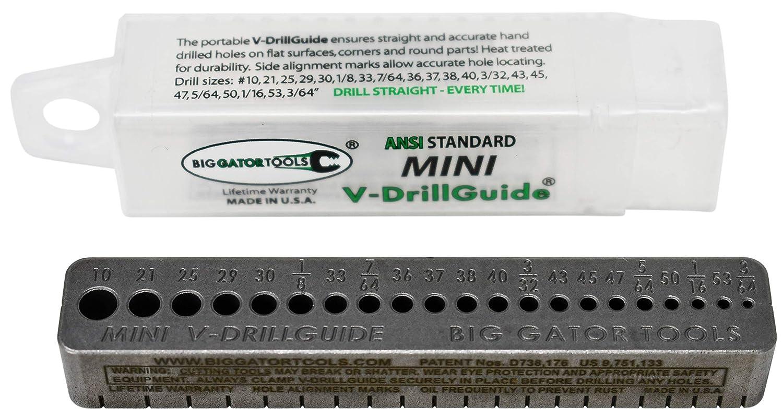 Big Gator Tools Lot de 4 guides de per/çage m/étriques en V MTG500NP, MDG1000NP, MDG2000NP, SDGMINI